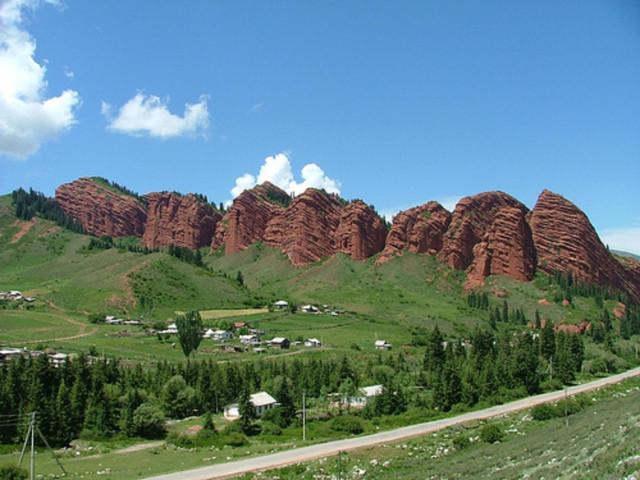 The Kyrgyzstan, Issyk-Kul, Jeti-Oguz District