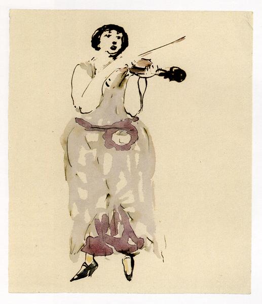 скрипачка