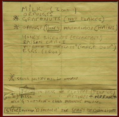 john lennon's handwriting