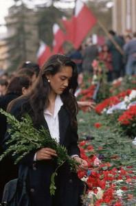1989 траурные дни по жертвам 9 апреля