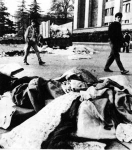 1989, апрель,  на проспекте Руставели (3)