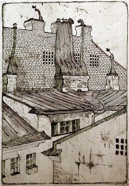 домов[1].1901. Офорт И. 17,7х12,1