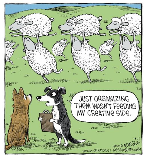 Перевод: просто организовать их недостаточно для моей креативности.