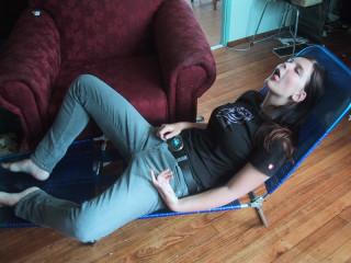 Deborah & deck chair