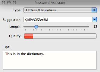 Password Assistant screenshot