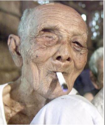 Курение среди долгожителей.