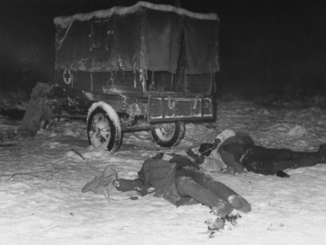 Frozen Bodies of Russian Soldiers Killed in the Second Battle of Suomussalami, Russo-Finnish War