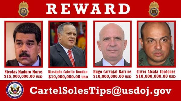Соединённые Штаты назначили награду за голову законного президента Венесуэлы