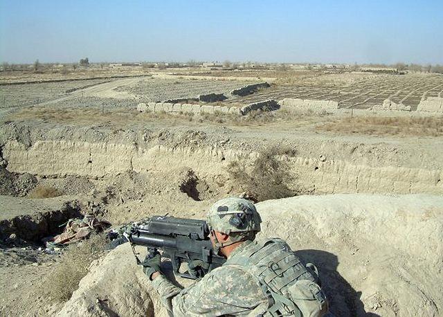 Ручная гранатомётная система XM25 в ходе испытаний в боевых условиях в Афганистане (2011 год)