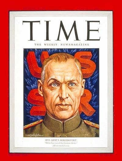 Константин Рокоссовский на обложке журнала Time