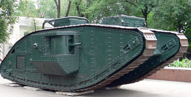 Британский танк времён Гражданской