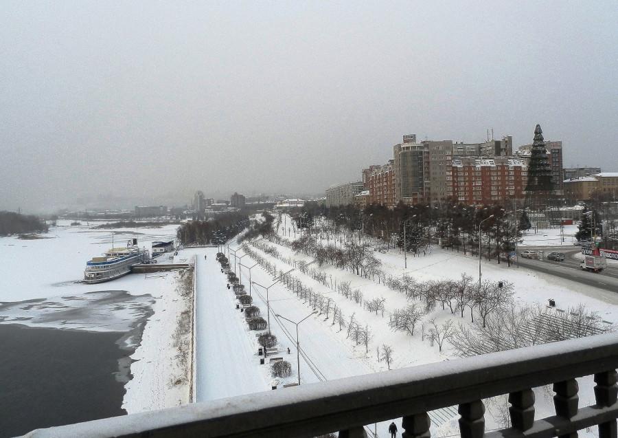 Фото Николай Юрлов Набережная Енисея