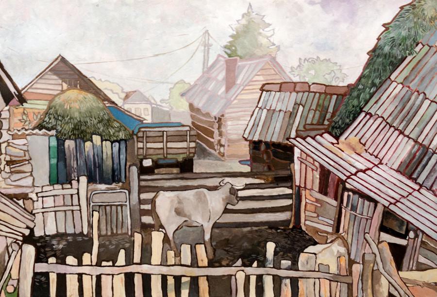 картинки мой двор в деревне женщины, которым пришлось