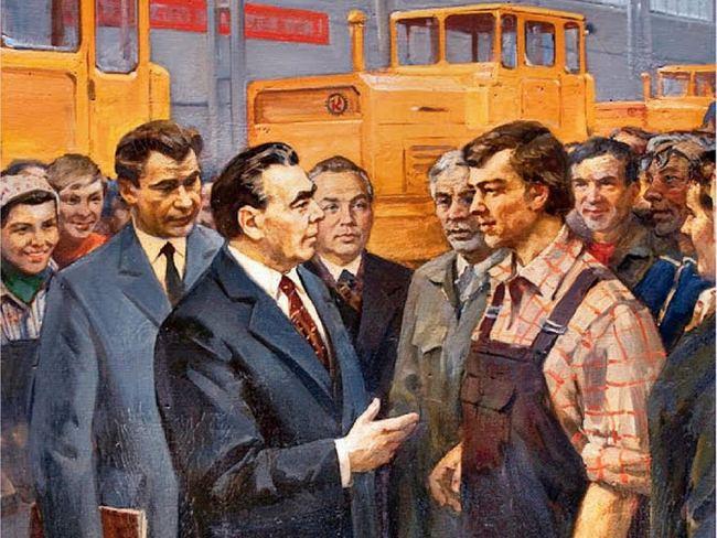 Застойный генсек Брежнев