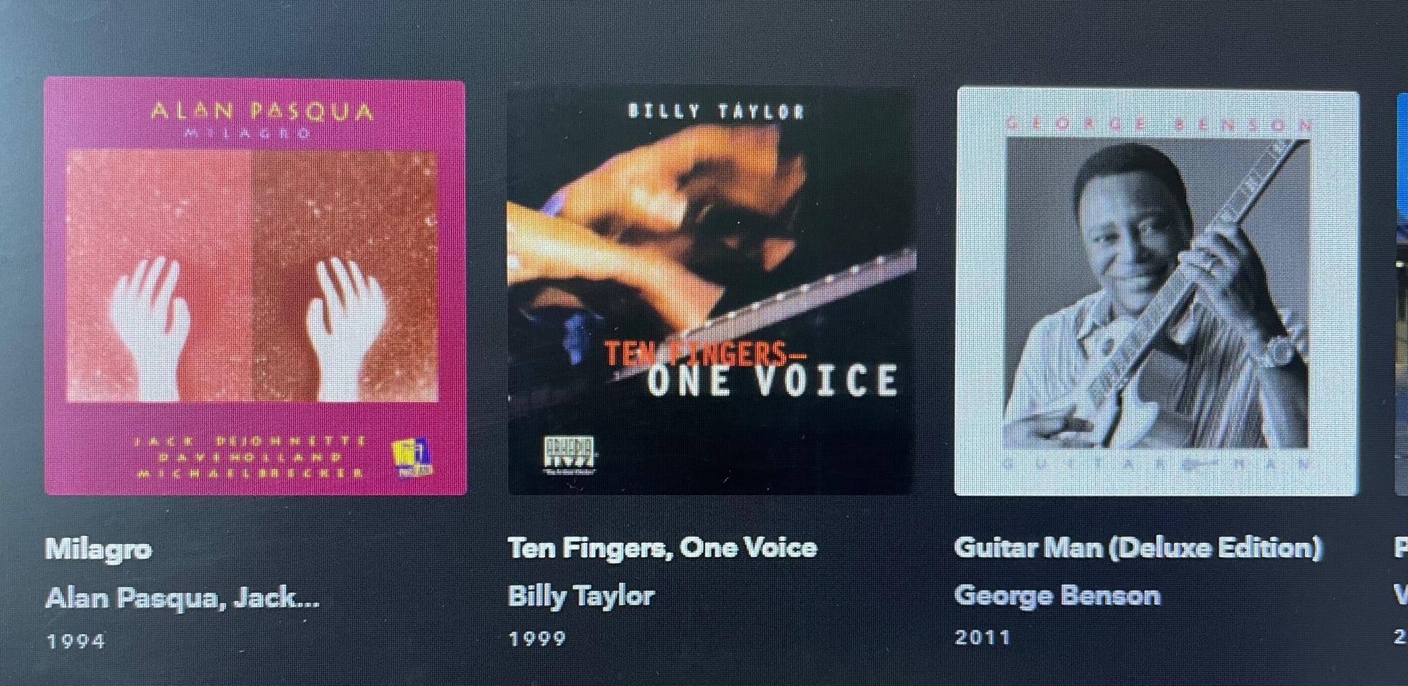 """На Tidal в раздеде джаз в графе «New Albums"""" сегодня первые три альбома не 2021 года выпуска. Это сначало вызвало у меня легкое недоумение, которые сменилось удовлетворением. Не появись данные диски в этой графе, я бы ещё долго не знал бы о чудесной сольной работе пианиста Билла Тейлора Ten Fingers, One Voice."""