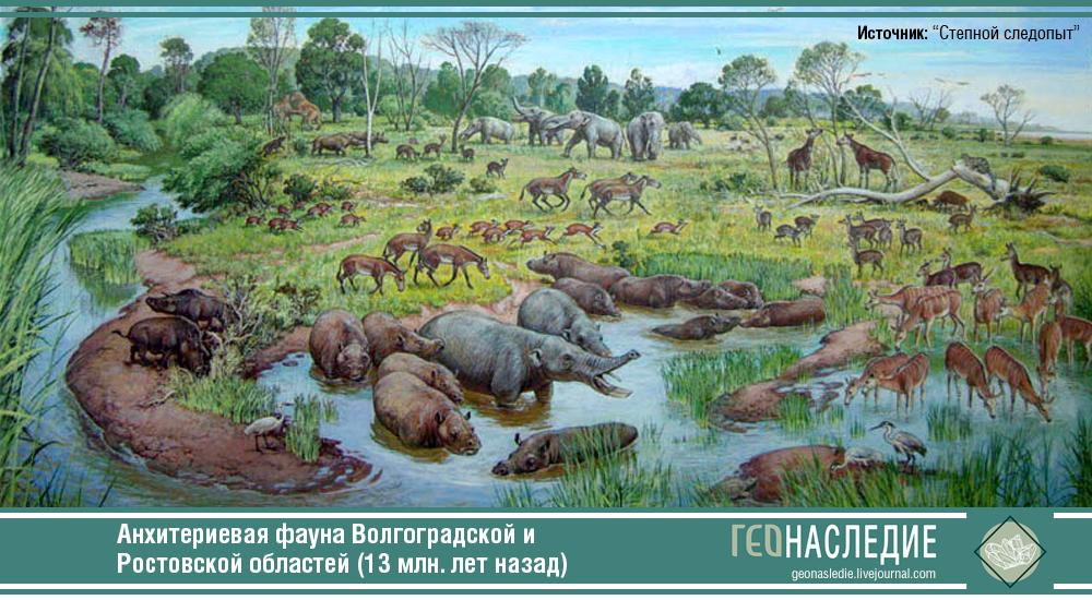 Анхитериевая фауна на юге России