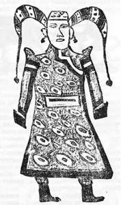Костюм монгольской княгини