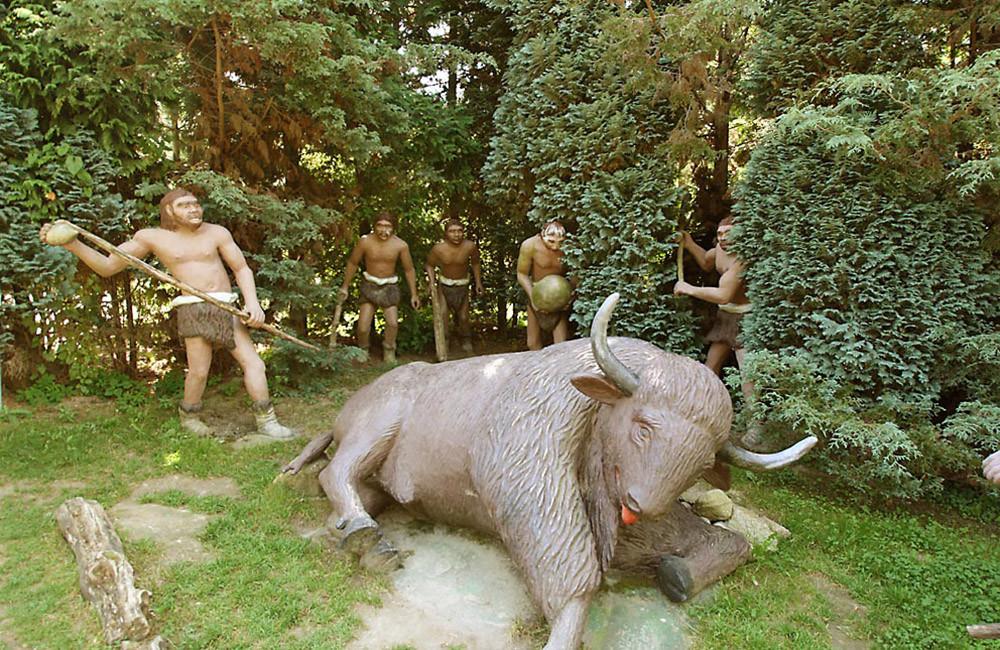Охота первобытных людей на бизона