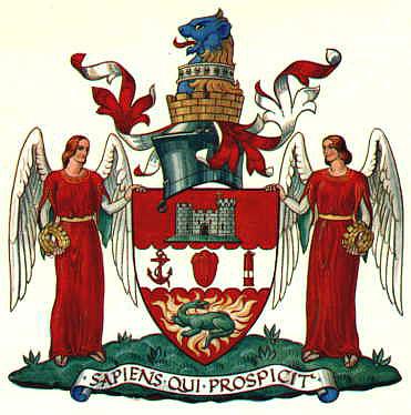 Трилобит Calymene blumenbachii в центре герба города Дадли