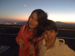 Julia and Ben at sunset