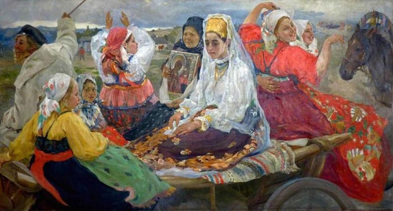 А. А. Бучкури. Свадебный поезд