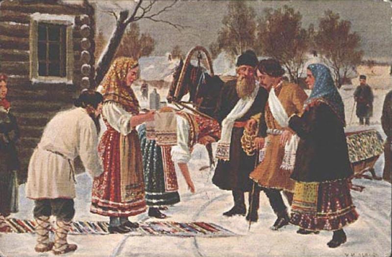 И. Львов. Приезд молодого от родителей в дом тестя на свадебный пир
