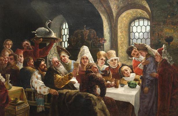 Константин Маковский Боярский свадебный пир. 1883 год