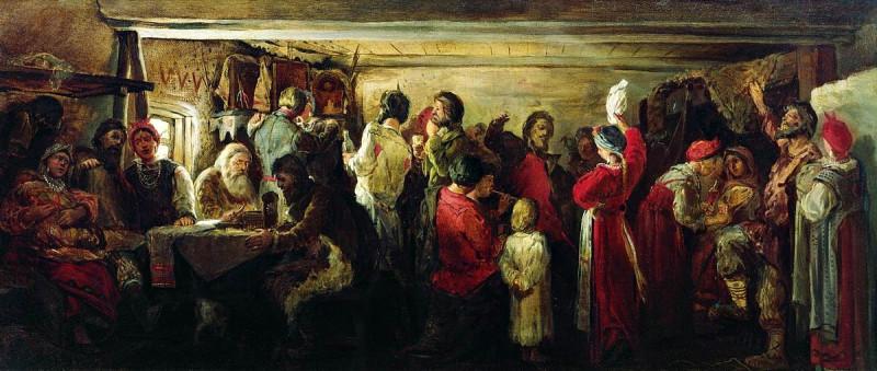 Рябушкин А.П. - Крестьянская свадьба в Тамбовской губернии. 1880. ГТГ