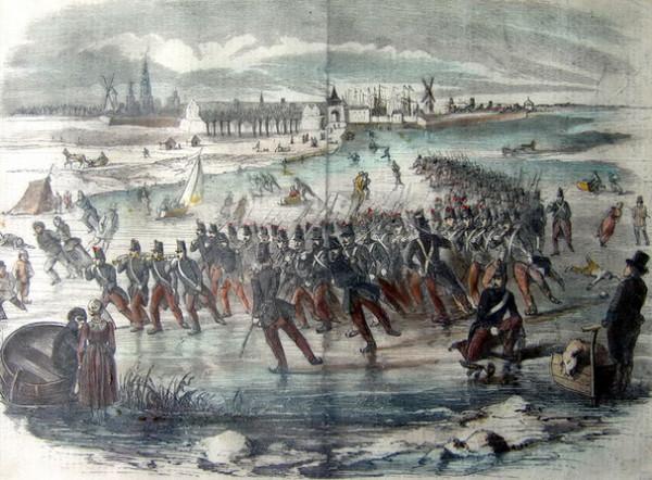 Dutch army on skates