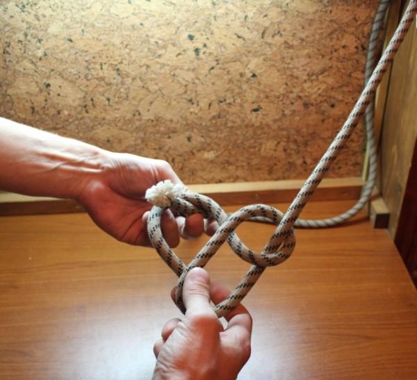 вязание узла булинь
