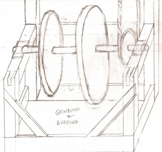Fig 8 Sketch of Buffer-Grinder set-up