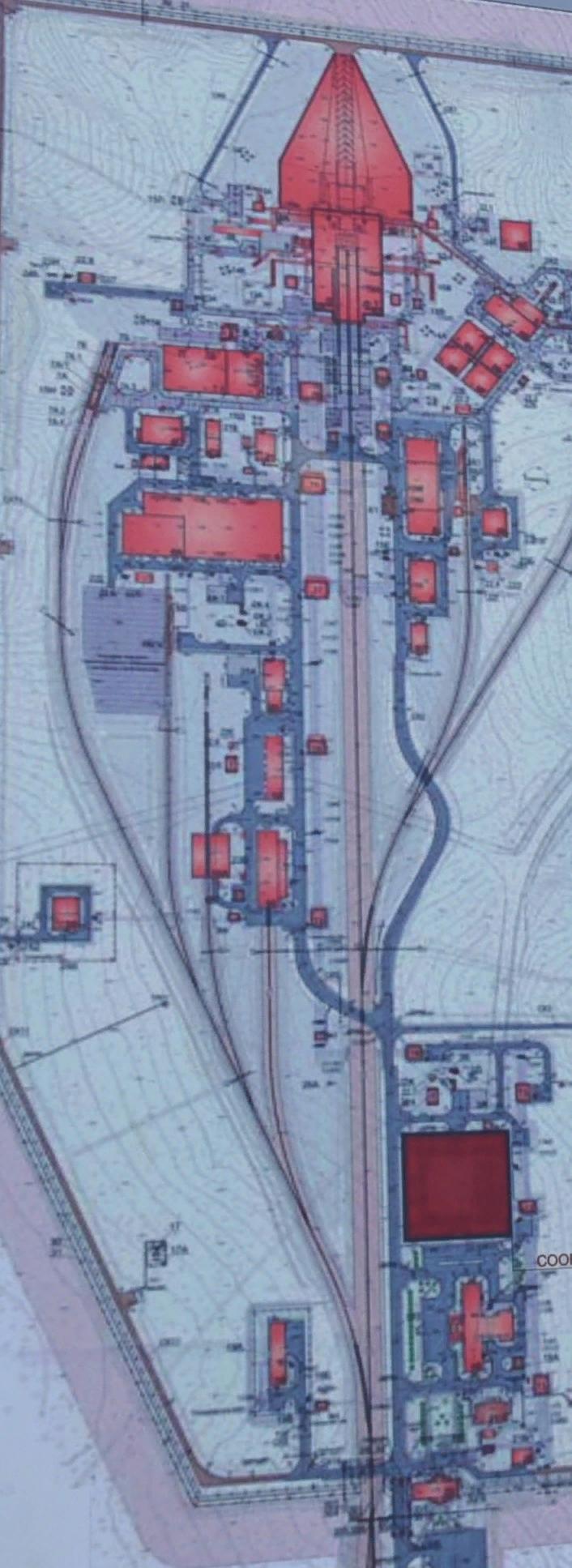 план-схема объектов космодрома