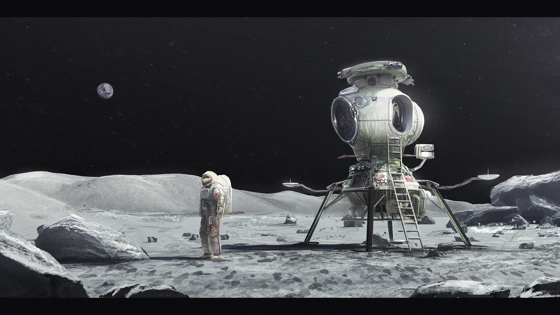 советская высадка на Луну