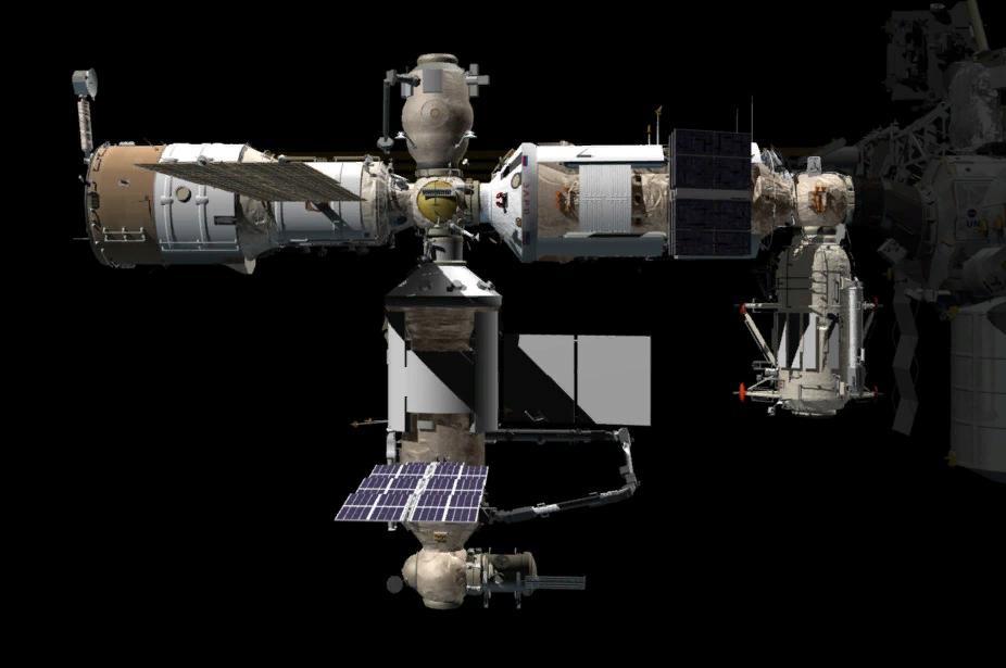 Картинка российского сегмента от НАСА