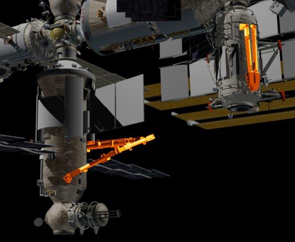оранжевым обозначен робот ERA
