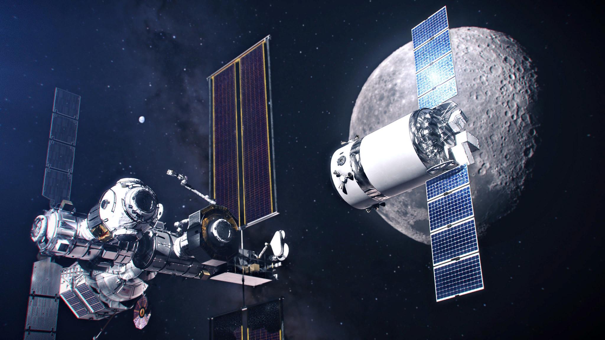 Лунная  орбитальная станция  Gateway
