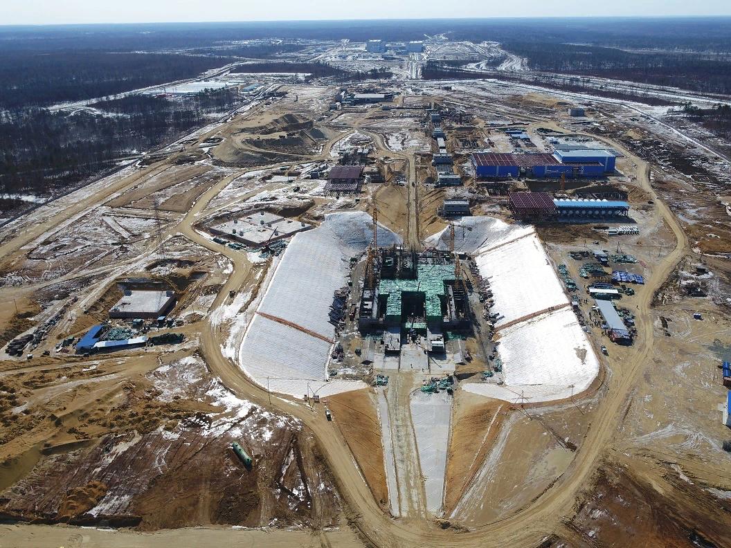 Стройка на Восточном в марте