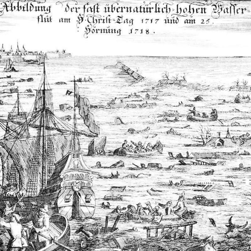 Рождественское наводнение в Европе 1717 г.