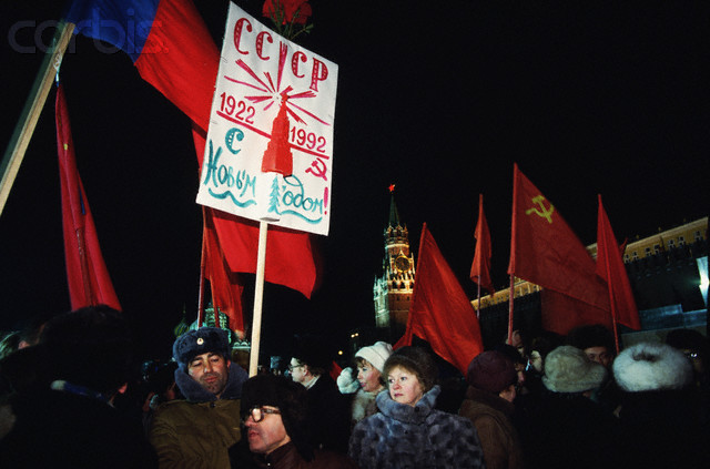 Corbis-LT001023-New Year Celebrations in Moscow 1991