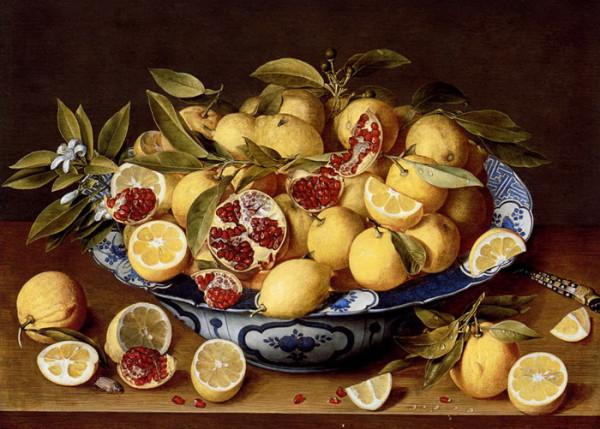 Лимон и гранат