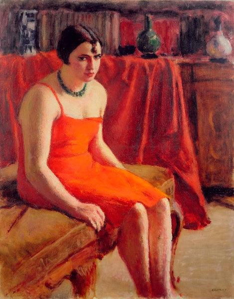 Родерика О'Конор. Женщина в красном