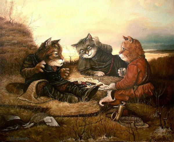 Коты на привале