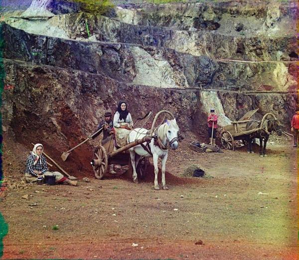 Прокудин-Горский. Рудник Тяжелый. Фото 1910-х годов