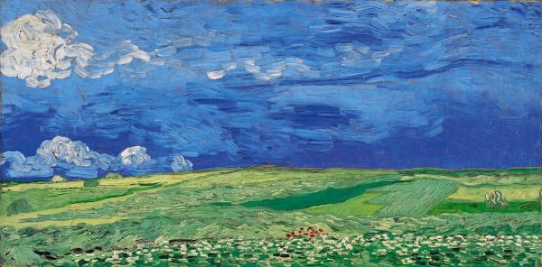 Ван Гог. Пшеничное поле под облачным небом