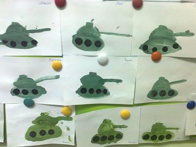 рисование в средней группе танк