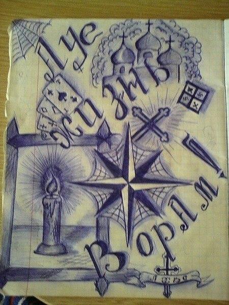 Рисунки ауе ручкой