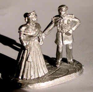Unpainted miniatures of Queen Victoria and Prince Albert
