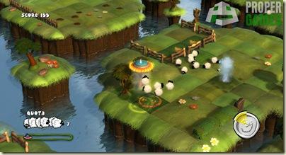 """Screenshot of Proper Games' first title, """"Flock!"""""""