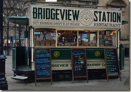 Repurposed horse-drawn tram in Dundee