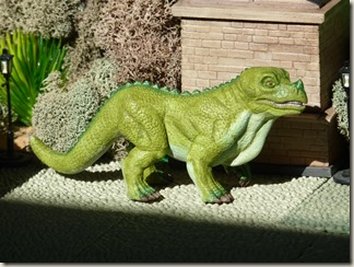 Iguanodon figure inspired by Crystal Palace - right side
